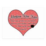 La pata de Alaska de Klee Kai imprime humor del pe Postal