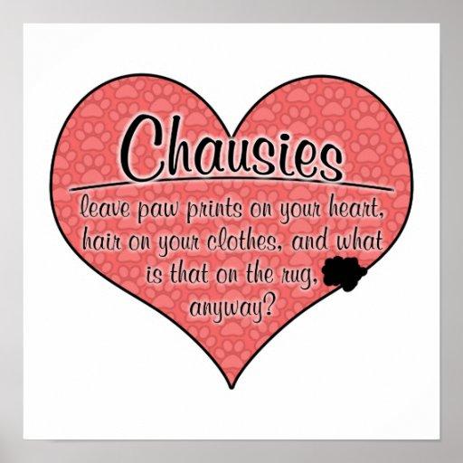 La pata de Chausie imprime humor del gato Póster