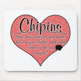 La pata de Chipin imprime humor del perro Mouse Pads