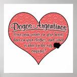 La pata de Dogo Argentino imprime humor del perro Poster