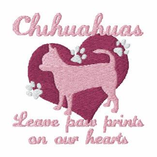 La pata de la licencia de las chihuahuas imprime a sudadera bordada con serigrafía