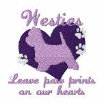 La pata de la licencia de Westies imprime púrpura Sudadera Con Serigrafía