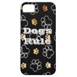 La pata de la regla de los perros imprime los rega iPhone 5 Case-Mate funda