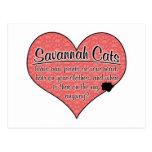 La pata de la sabana imprime humor del gato postales