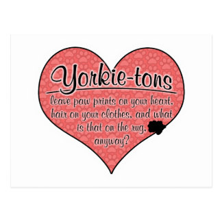 La pata de la Yorkie-tonelada imprime humor del pe Postales