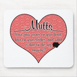 La pata de los Mutts imprime humor del perro Tapete De Ratón