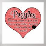 La pata de Puggle imprime humor del perro Impresiones