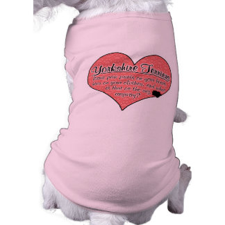 La pata de Yorkshire Terrier imprime humor del per Camisetas Mascota