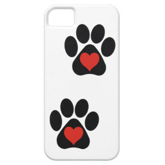 La pata del amor imprime el iPhone 5 Barely There  iPhone 5 Case-Mate Carcasa