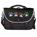 La pata del color del arco iris imprime el bolso d bolsas de portátil
