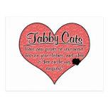 La pata del gato de Tabby imprime humor Postal