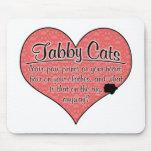 La pata del gato de Tabby imprime humor Alfombrilla De Raton