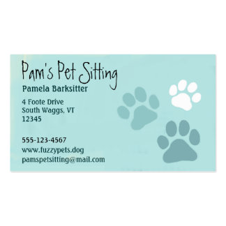 La pata del mascota imprime al amante animal plantilla de tarjeta de negocio