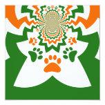 La pata del perrito de los amantes del perro de la invitación 13,3 cm x 13,3cm