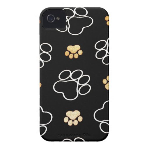 La pata del perrito del perro imprime los regalos Case-Mate iPhone 4 fundas