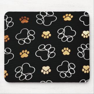 La pata del perrito del perro imprime los regalos  tapete de raton