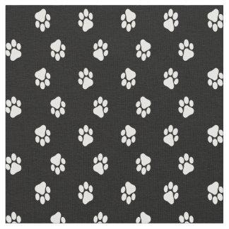La pata del perro imprime la tela, impresiones de telas