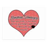 La pata del Schnauzer miniatura imprime humor del  Postales