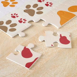 La pata imprime el fondo puzzles con fotos