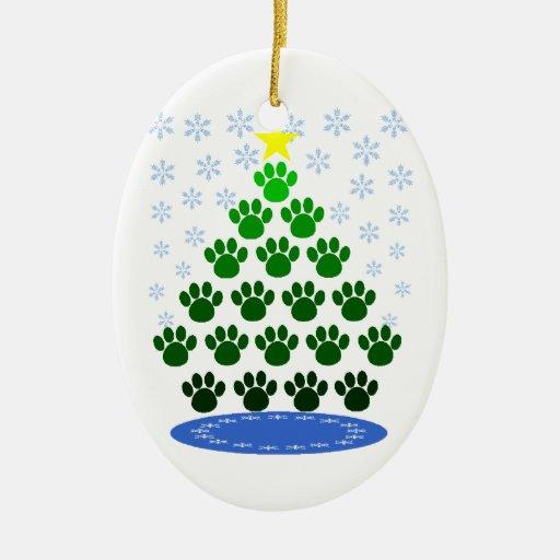 La pata imprime el ornamento del árbol de navidad ornamento de reyes magos