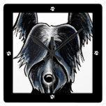 La pata negra de Skye Terrier imprime moderno Relojes De Pared