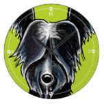 La pata negra de Skye Terrier imprime personalizad Reloj