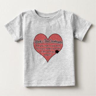 La pata negra y del moreno del Coonhound imprime Camisas