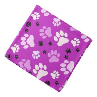 La pata púrpura imprime el perro del | bandanas