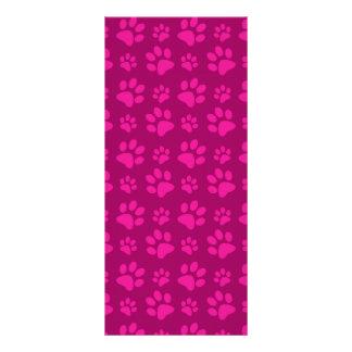 La pata rosada magenta del perro imprime el modelo lona personalizada