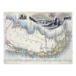 La Patagonia, de una serie de mapas del mundo Postales