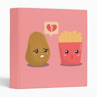 La patata es corazón roto sobre las patatas fritas