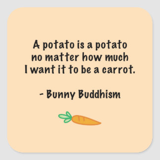 La patata es una patata pegatina cuadrada