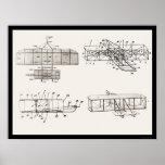 La patente del avión de los hermanos de Wright pla Impresiones
