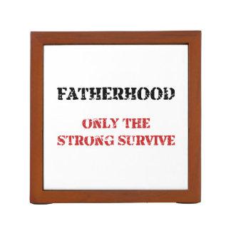 La paternidad sobrevive organizador de escritorio