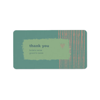 La pátina le agradece pegatina del regalo etiquetas de dirección