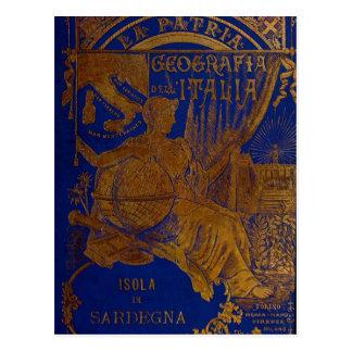La Patria Cerdeña Tarjeta Postal