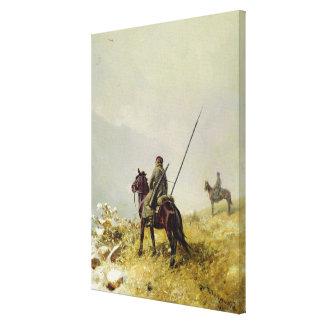 La patrulla, 1887 lienzo envuelto para galerías