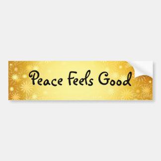 La paz adaptable protagoniza a la pegatina para el pegatina de parachoque