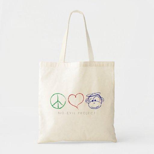 La paz, amor, Monkeys bolsos Bolsa Tela Barata