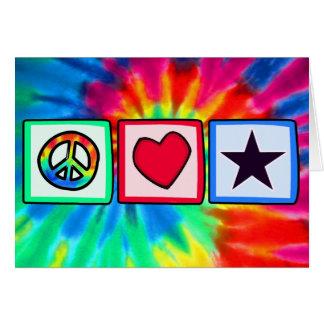 La paz, amor, protagoniza tarjeta de felicitación