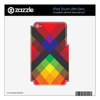 La paz, amor, unidad, respeta el extracto calcomanía para iPod touch 4G