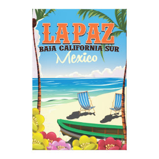 La Paz Baja California Sur Mexico travel poster Canvas Print