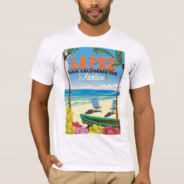 bartonleclaydesign La Paz Baja California Sur Mexico travel poster T-Shirt