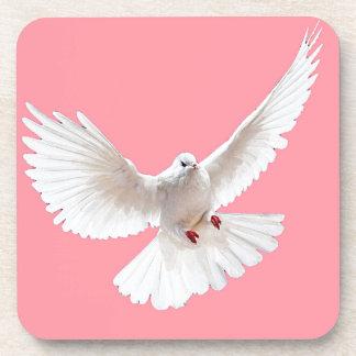 La paz blanca se zambulló los regalos rosados posavaso