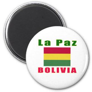 La Paz Bolivia capital designs Magnets