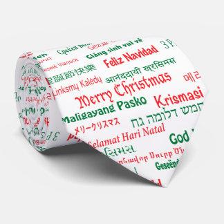La paz coexiste las Felices Navidad felices muchas Corbatas Personalizadas