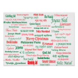La paz coexiste las Felices Navidad felices muchas Póster