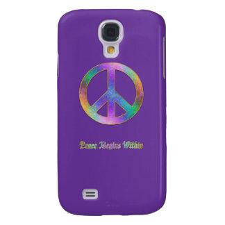 La paz comienza dentro de nosotros funda para galaxy s4