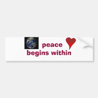 la paz comienza dentro pegatina para auto