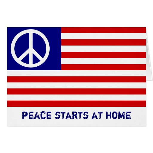 La paz comienza en casa tarjeton